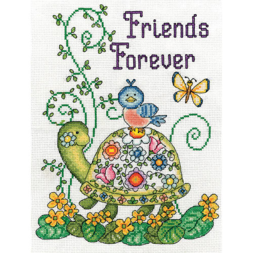 Design Works Counted Cross Stitch Kit - Friends Forever - Turtle