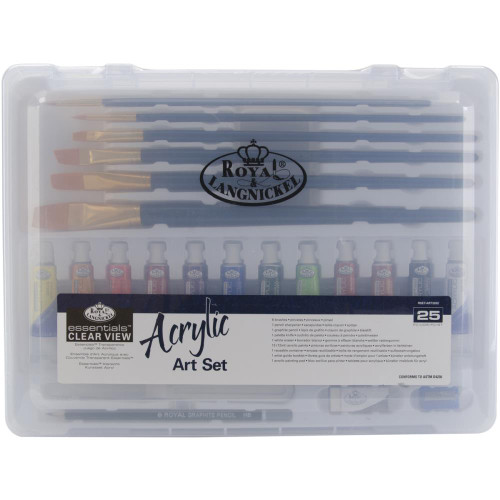 essentials™ Clear View Art Set  Acrylic Painting