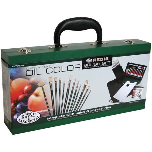 Wooden Box Art Set - Oil Color