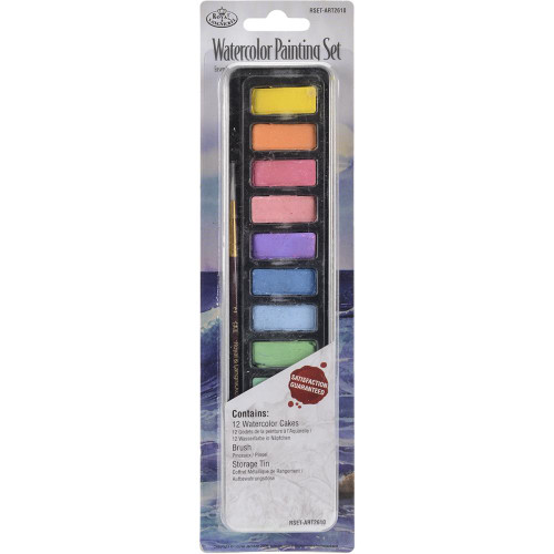 Watercolor Painting Set W/Tin