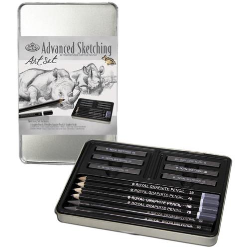 Advanced Sketching Art Set W/Tin