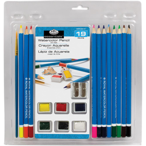 Clamshell Art Sets - Watercolor Pencils 19pc
