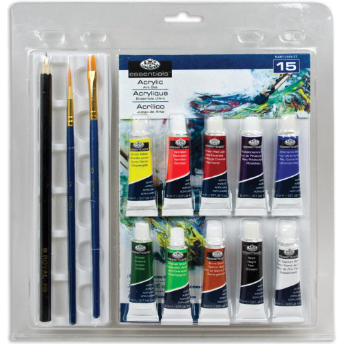 Clamshell Art Sets - Acrylic Painting 15pc