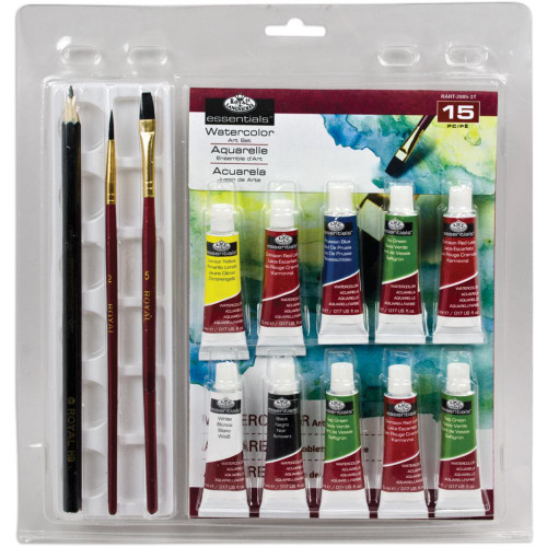 Clamshell Art Sets - Watercolor 14pc