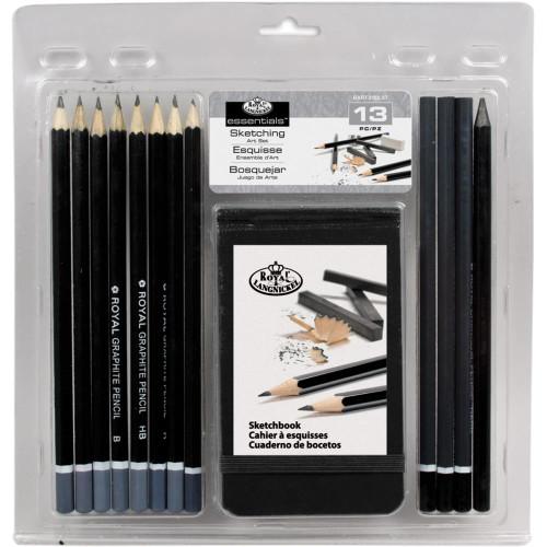 Clamshell Art Sets - Sketching Pencil W/Sketchbook
