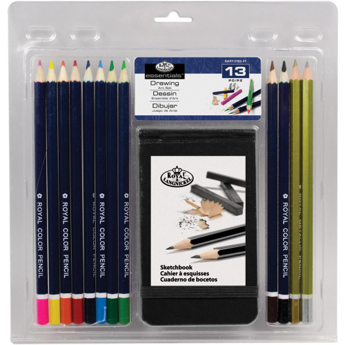 Clamshell Art Sets - Drawing Pencil W/Sketchbook