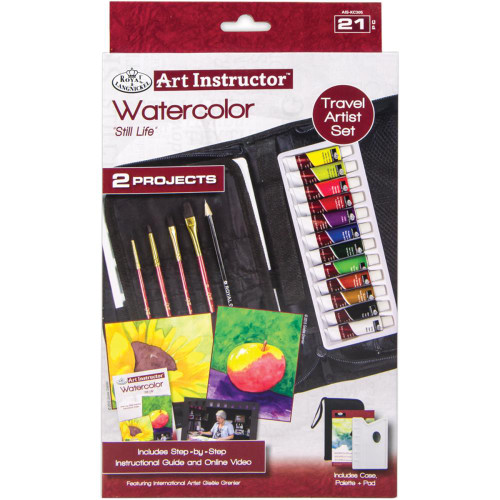 Art Instructor Watercolor Travel Set Small - 21pc