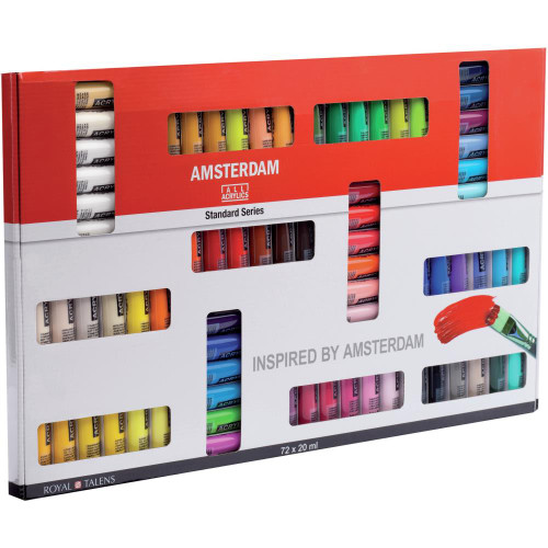 Amsterdam 20ml Standard Acrylic Paint Set 72/Pkg