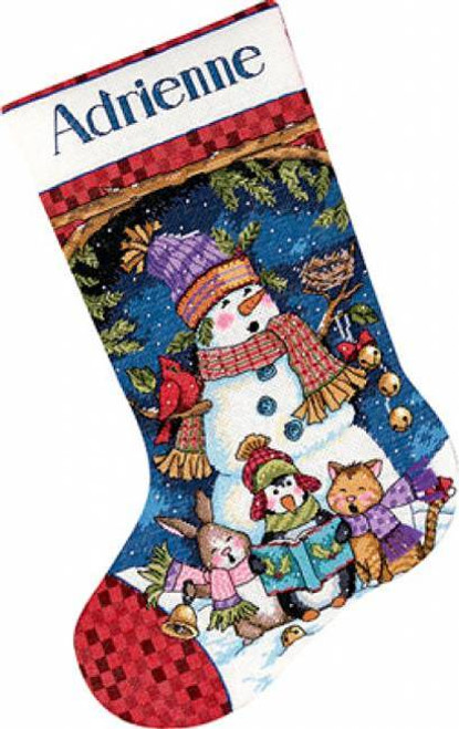 Dimensions Counted Cross Stitch Stocking Kit - Cute Carolers