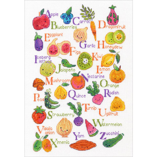Dimensions Counted Cross Stitch Kit - Fruits & Veggies