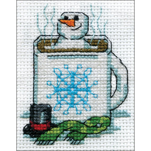 Design Works Counted Cross Stitch Kit - Cocoa Snowman