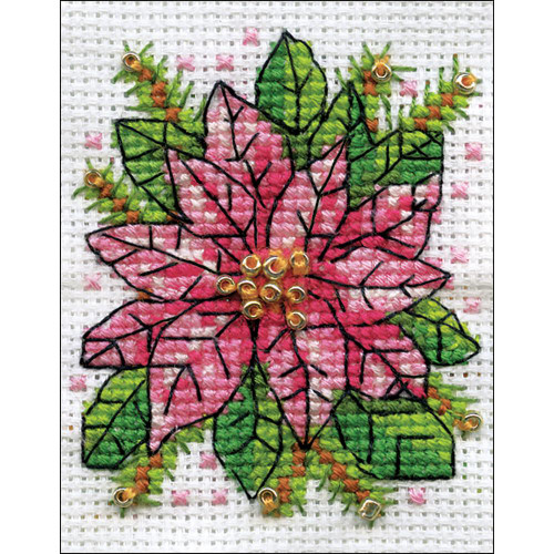 Design Works Counted Cross Stitch Kit - Poinsettia