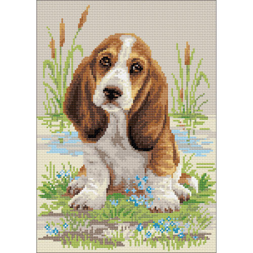 RIOLIS Diamond Mosaic Embroidery Kit - Basset Hound