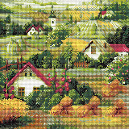 RIOLIS Diamond Mosaic Embroidery Kit - Serbian Landscape