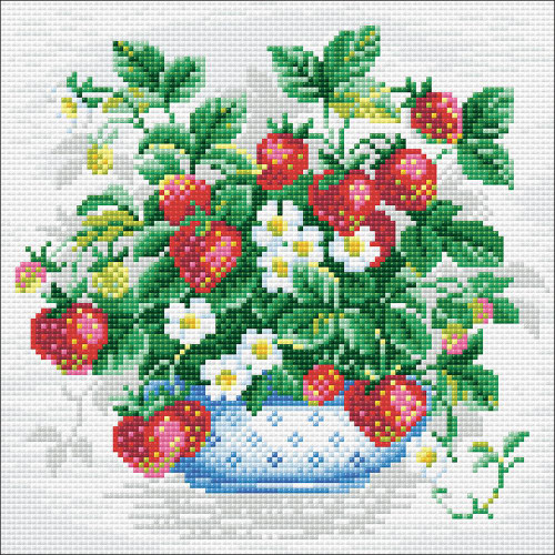 RIOLIS Diamond Mosaic Embroidery Kit - Basket Of Strawberries