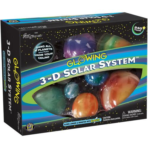 Glowing 3-D Solar System Kit