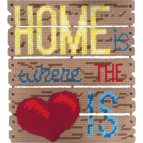Janlynn Pallet-Ables Plastic Canvas Kit - Home Is Where The Heart Is