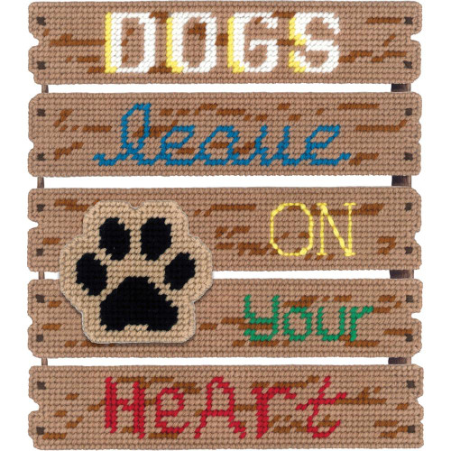 Janlynn Pallet-Ables Plastic Canvas Kit - Dogs Leave Pawprints