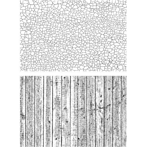 Tim Holtz Cling Stamps - Craze & Planks