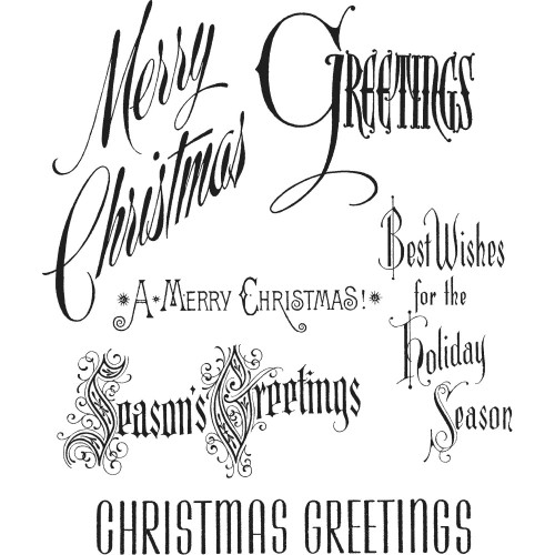 Tim Holtz Cling Stamps - Christmastime