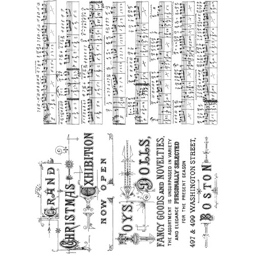 Tim Holtz Cling Stamps - Music & Advert