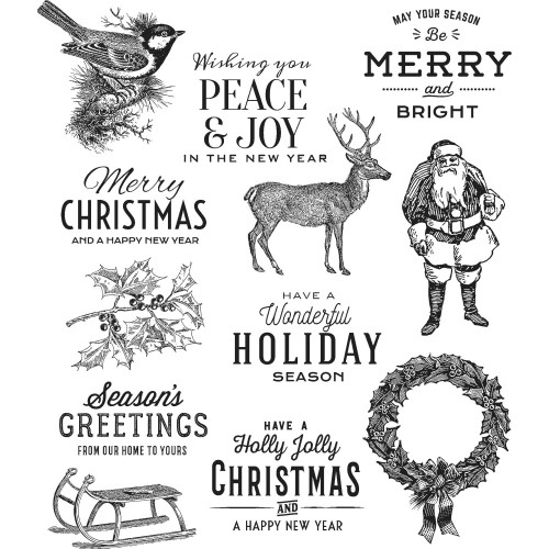 Tim Holtz Cling Stamps - Festive Overlay