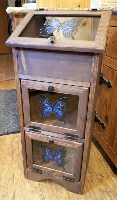 Potato & Onion Vegetable Storage Bin - Blue Tiger Butterfly