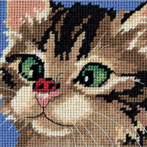 Dimensions Needlepoint Kit - Cross-Eyed Kitty
