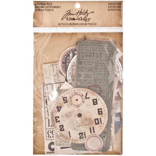 Idea-Ology Ephemera Pack 63/Pkg - Expedition