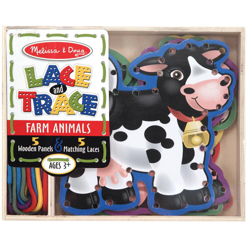 Lace And Trace Panels - Farm Animals