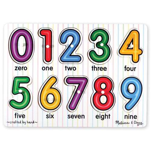 Melissa & Doug Min 'n Match Peg Puzzle - Numbers