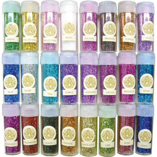 Couture Creations Fine Glitter Collection 24/Pkg