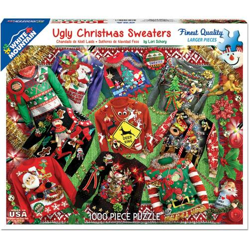Ugly Christmas Sweater Jigsaw Puzzle - 1000 Pieces