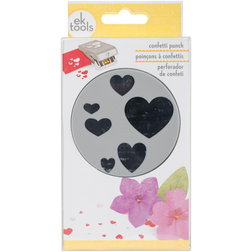 EK Success Large Punch - Confetti Hearts