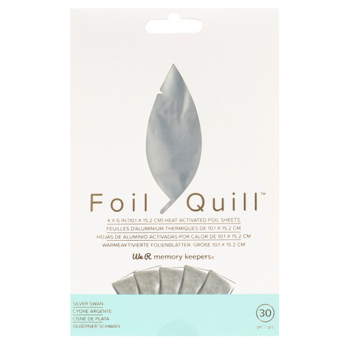 We R Memory Keepers Foil Quill Foil Sheets - Silver Swan