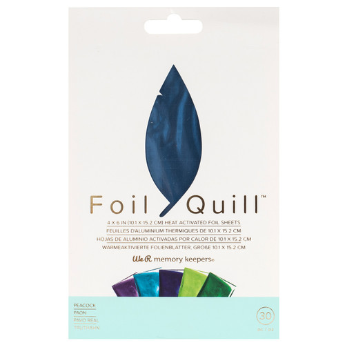 We R Memory Keepers Foil Quill Foil Sheets - Peacock