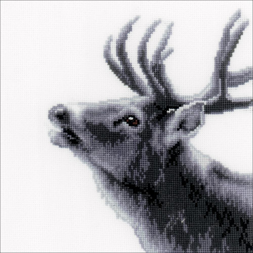 Deer On Aida Counted Cross Stitch Kit