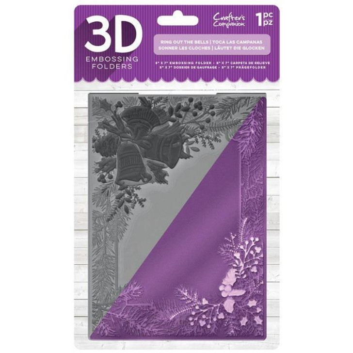 Crafter's Companion 3D Embossing Folder - Ring Out The Bells