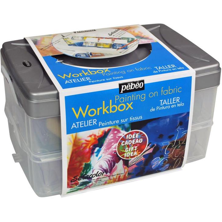 Setacolor Opaque Colors For Fabric Workbox Set 15/Pkg - Studio Collection