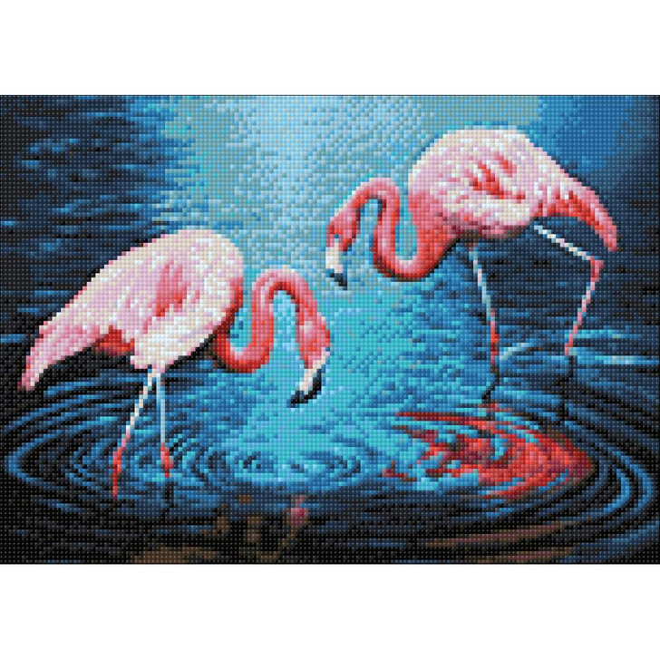 Collection D'Art Diamond Gem Kit - Flamingos On The Lake
