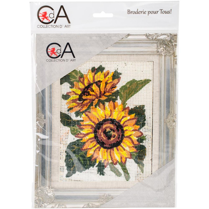 Collection D'Art Stamped Needlepoint Kit - Sunflowers