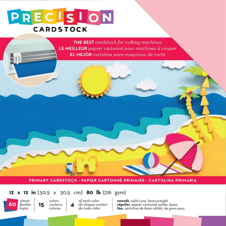 American Crafts Precision Cardstock - Primary/Smooth