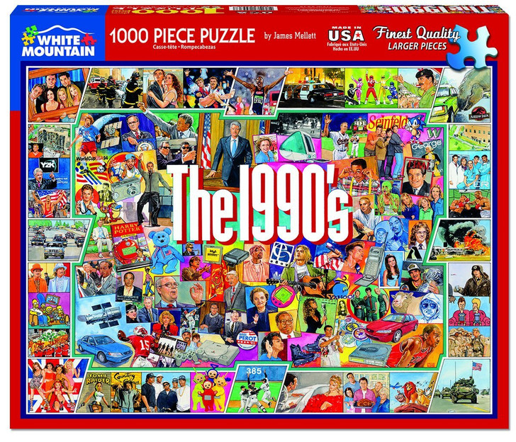 White Mountain 1000 Pc. Jigsaw Puzzle - The 1990's