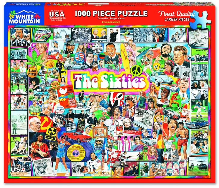 White Mountain 1000 Pc. Jigsaw Puzzle - The Sixties