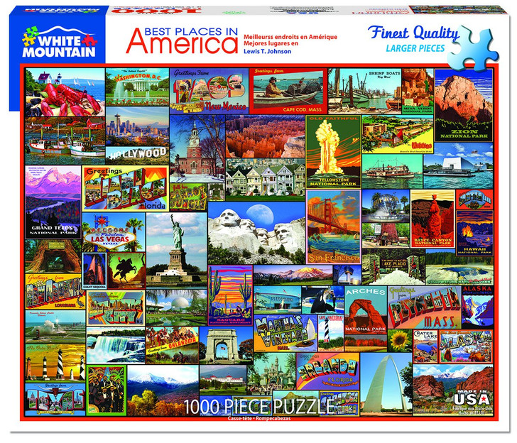 White Mountain 1000 Pc. Jigsaw Puzzle - Best Places In America