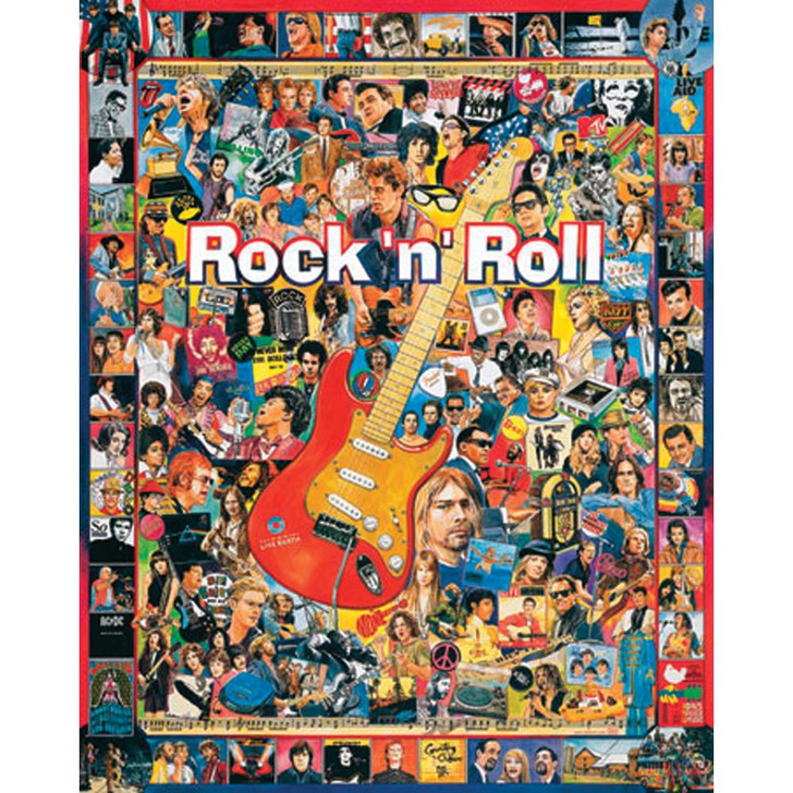 White Mountain 1000 Pc. Jigsaw Puzzle - Rock 'n' Roll