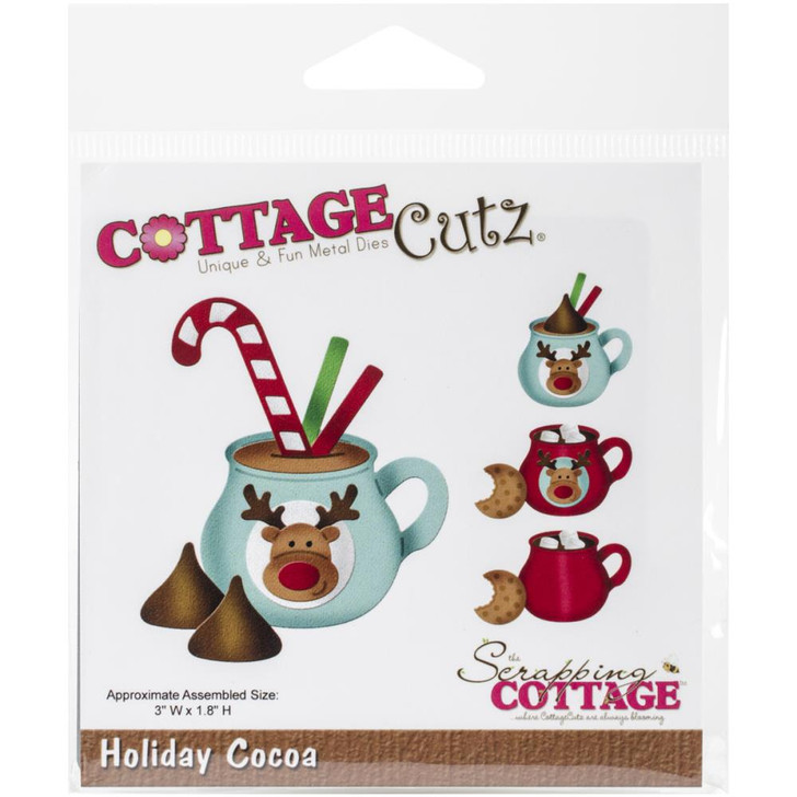 CottageCutz Die - Holiday Cocoa