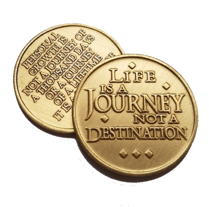 """Life Is A Journey Bronze """"AA"""" Medallion"""