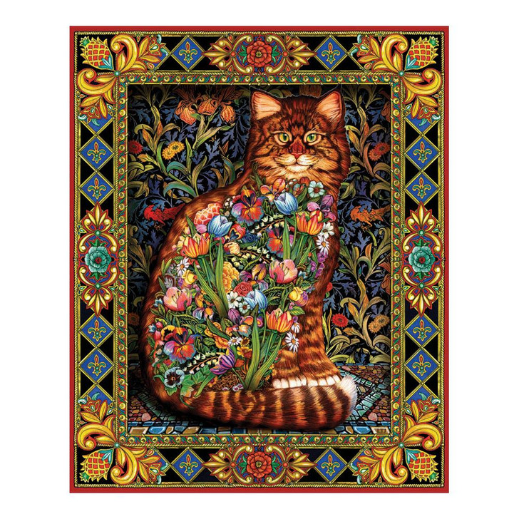 White Mountain 1000 Pc. Jigsaw Puzzle - Tapestry Cat
