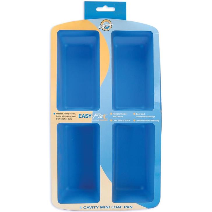 Wilton Mini Loaf Easy-Flex Silicone Pan 4-Cavity